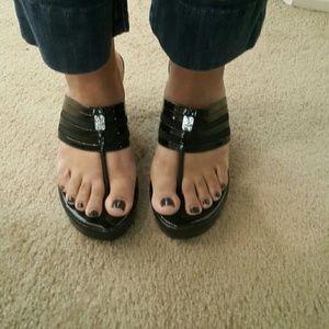 COPY - Beautiful wedge sandals BCBG